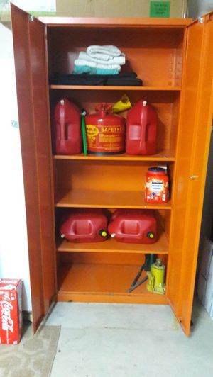 """Steel storage cabinet. 78"""" tall. X 36"""" Wide x 18"""" deep, lockable and with stong shelving. Contents not included for Sale in Boynton Beach, FL"""