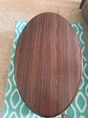 Brown Oval Coffee Table for Sale in Pittsburgh, PA