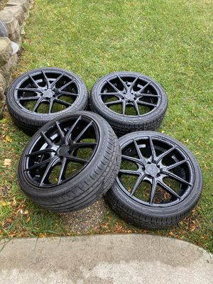 18 inch Gloss Black Rims for Sale in Bartlett, IL