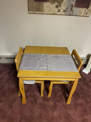 Kids table and chairs and toybox for Sale in Philadelphia, PA