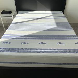 Vibe Gel Memory Foam 12-Inch Mattress + Bed Frame for Sale in Tempe, AZ