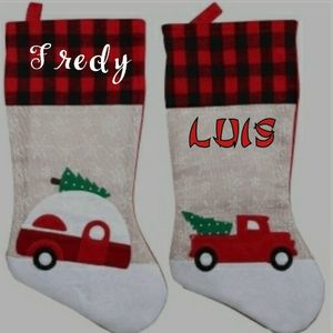 Red Truck Camper Christmas Stocking Holder for Sale in Houston, TX