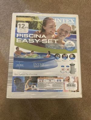 BRAND NEW INTEX 12ft x 30 IN EASY SET ABOVE GROUND POOL WITH FILTER PUMP 12x30 for Sale in Revere, MA