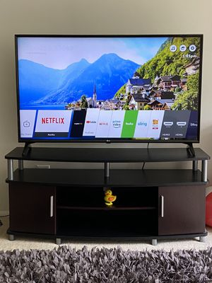 LG 49 inch 4K UHD smart TV with Stand for Sale in Rockville, MD