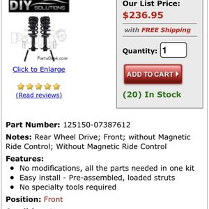 Shock/strut Assembly for Sale in San Angelo, TX