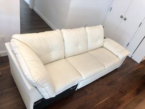 IKEA Dragstorp white leather sofa for Sale in New York, NY