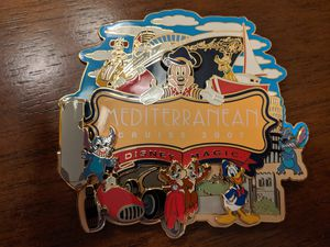 Disney Jumbo pin Disney Magic Mediterranean Cruise 2007 with Stitch, Mickey, Chip and Dale, Donald, Goofy and Pluto for Sale in Glendale, AZ