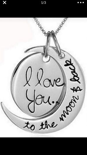 """""""I LOVE YOU TO THE MOON & BACK"""" Necklace for Sale in Bedford Park, IL"""