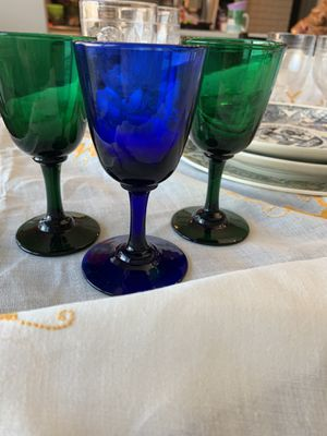 Vintage blown glass cordial glasses for Sale in Evergreen, CO