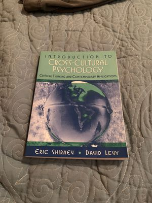 Introduction to Cross-Cultural Psychology for Sale in Chino Hills, CA
