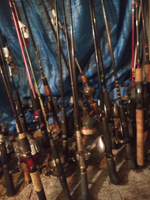 All types of fishing poles. $15 and up. 777 N. Custer