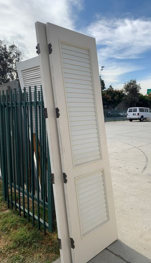 Solid Louver Doors - ($25 each - have 2) for Sale in Temple City, CA