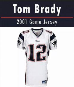 Tom Brady Rookie Year Jersey Swatch 2001 for Sale in Leesburg,  VA