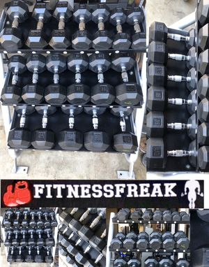 10-50 LB FLAWLESS RUBBER HEX DUMBBELL SET for Sale in El Cajon, CA