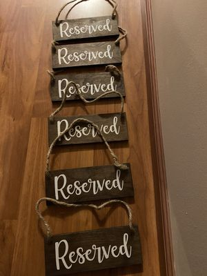 Wedding reserved signs for Sale in Kent, WA