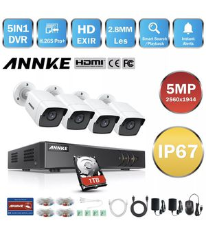 ANNKE 8CH DVR Outdoor CCTV 5MP Security Camera System Home Surveillance IP67 1TB for Sale in Whittier, CA