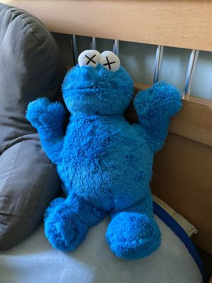 Kaws x Sesame Street Cookie Monster Plush Doll for Sale in Washington Grove, MD