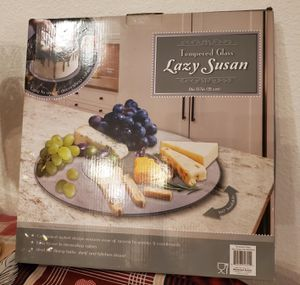 Lazy susan tempered glass brand new for Sale in Riverside, CA