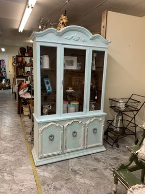 Coastal two-piece China cabinet. for Sale in Largo, FL