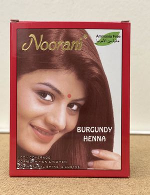 NOORANI HENNA BURGUNDY 6 POUCHES X 10g NATURAL HAIR COLOR for Sale in San Gabriel, CA