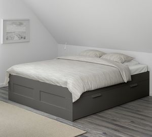 Brand New ! Black bed frame with built in sliding storage drawers for Sale in Harbison Canyon, CA