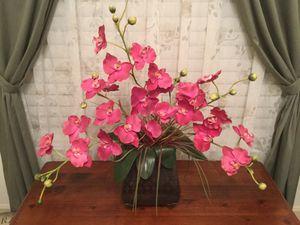 Orchid flower arrangement with vase for Sale in Boca Raton, FL
