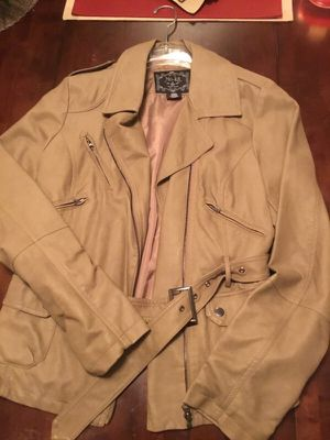 Mo-ka brown leather jacket for Sale in Cleveland, OH