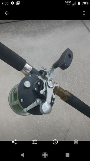 Peen reel with fishing rod pole for Sale in Tampa, FL