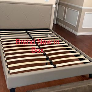Brand New Leather Queen bed frame for Sale in Ontario, CA