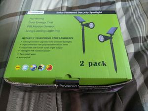 Solar spotlights auto on/off for Sale in Kissimmee, FL