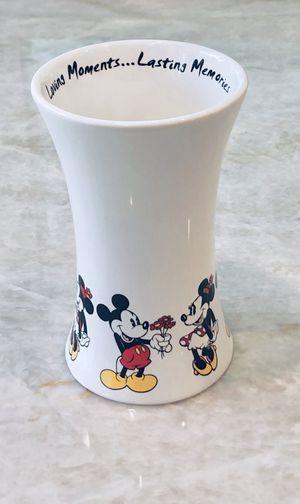 "Disney ""Loving Moment, Lasting Memory"" Mickey & Minnie Mouse Ceramic Vase 6"" H for Sale in Miami, FL"