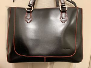 JACK GEORGES LARGE LEATHER BUSINESS TOTE/ BRIEFCASE for Sale for sale  Stockton, CA