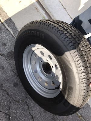 Trailer wheels whit new tires for Sale in Moreno Valley, CA
