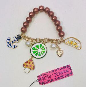 "Betsey Johnson ""SUMMER FUN!"" Super cute summer themed charm bracelet NEW! for Sale in Carrollton, TX"