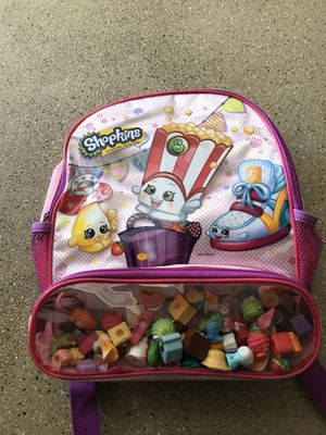 New shopkins backpack with 50 shopkins $100 obo for Sale in Hawthorne, CA