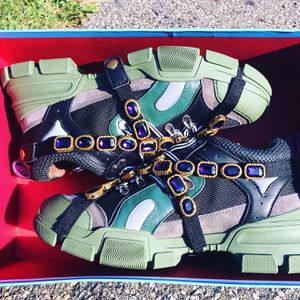 GUCCI FLASHTREK SNEAKERS WITH REMOVABLE CRYSTALS EXCLUSIVE MEN SIZE 10.5 for Sale in Hyde Park, OH