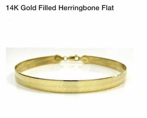 "14K Gold filled Herringbone Bracelet 8"" for Sale in Acworth, GA"