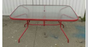Glass top patio patio table for Sale in Euclid, OH