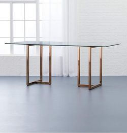 """SILVERADO BRASS 72"""" RECTANGULAR DINING TABLE for Sale in Brooklyn,  NY"""