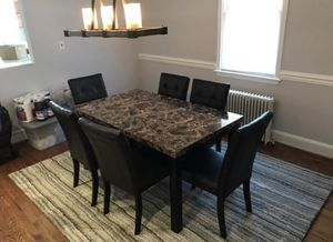 Brand new dining set; table and 6 leather chairs for Sale in Silver Spring, MD