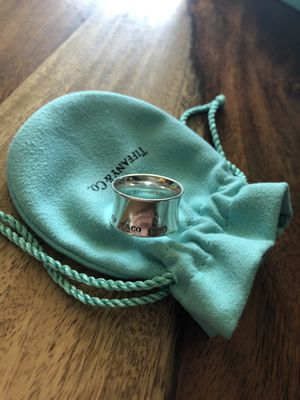 Tiffany's 1837 Silver Wide Ring Size 8 for Sale in Seattle, WA