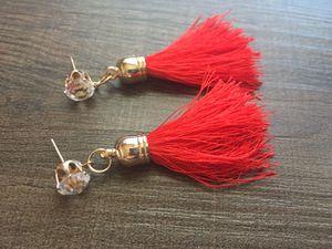 Red diamond earrings for Sale in Denver, CO