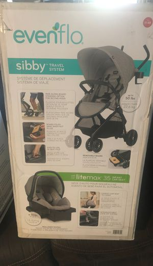 Even flow Sibby Travel system NEW /Gray for Sale in Burlington, WA