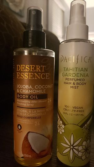 desert essence body oil and pacifica hair & body mist 10each or 19for all for Sale in Stockton, CA