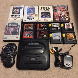 Sega Genesis With 13 Games for Sale in Austin, TX