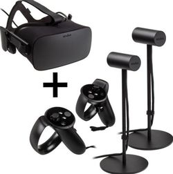 Oculus Rift CV1 VR Headset + Two Wireless Controllers And Two Motion Sensors for Sale in Hampton,  VA