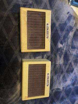 Lot Of 2 Fender Twin Mini Portable Tweed Electric Guitar Amplifiers Amp Working for Sale in San Bernardino, CA