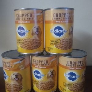 Pedigree Chop Ground Dinner With Chicken 5 Cans for Sale in Los Angeles, CA