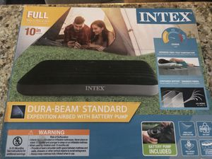 Air mattress inflatable mattress camping airbed (please read description) for Sale in La Puente, CA