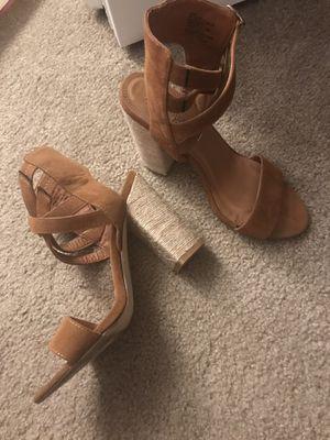 Brown suede heels for Sale in Shrewsbury, MA